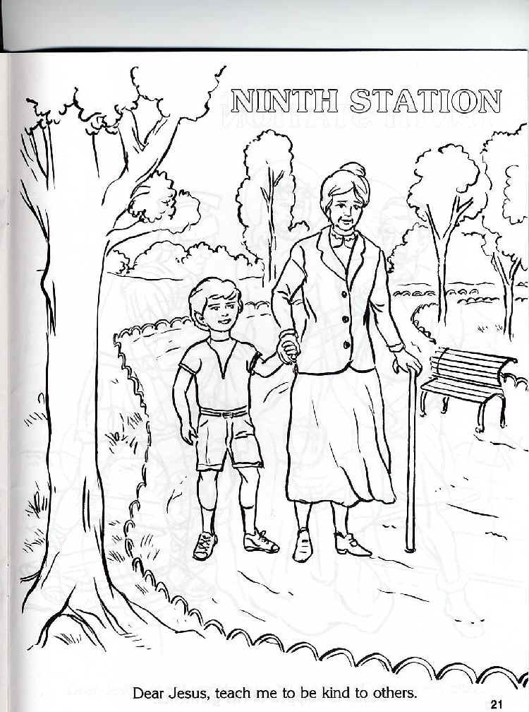 Catholic Cross Coloring Pages