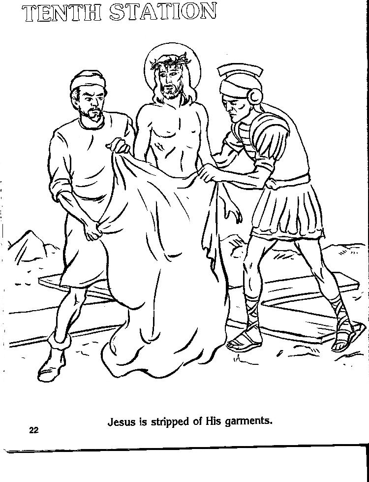 The stations of the cross coloring pages ~ Catholic Stations Of The Cross Coloring Pages Sketch ...