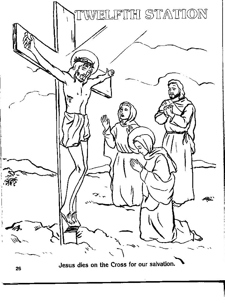 Stations Of The Cross Coloring Pages Endearing Coloring Stations Review