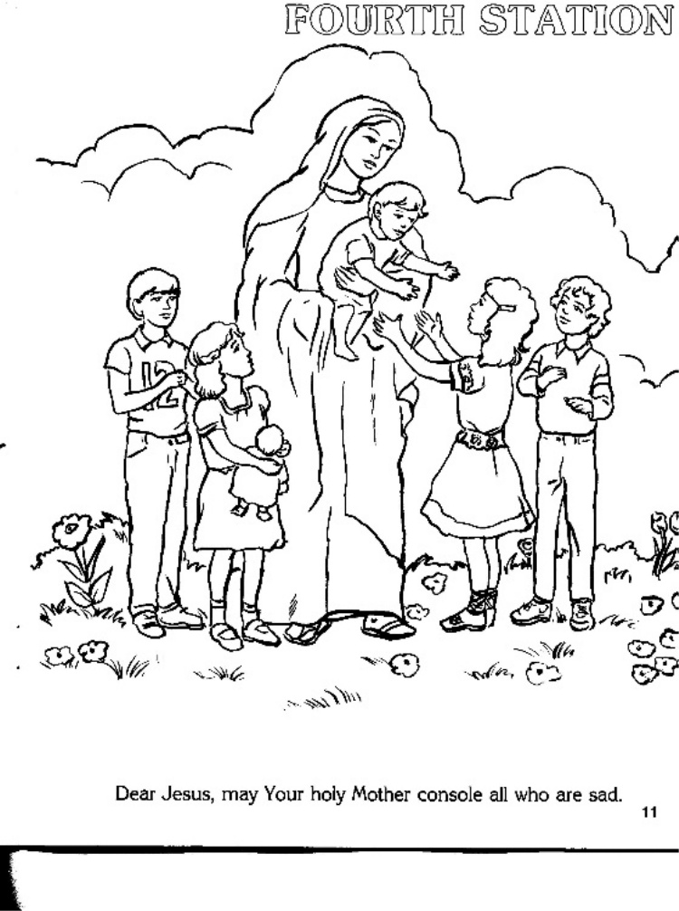 cathlic coloring pages - photo#36