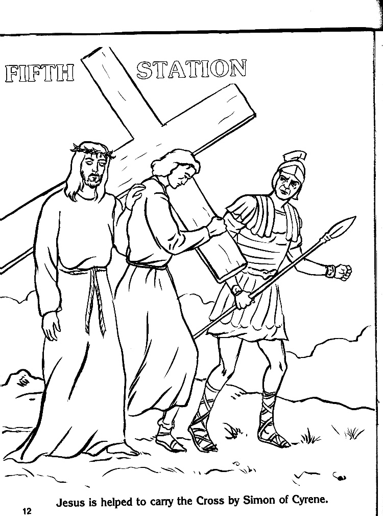 Free Coloring Pages Of Stations Of The Cross