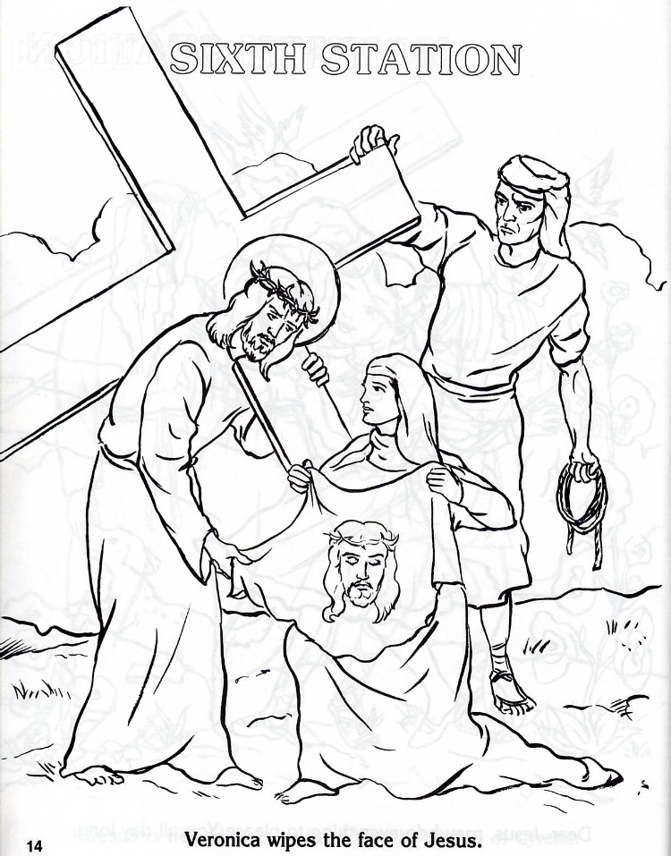 stations of the cross coloring pages catholic kid