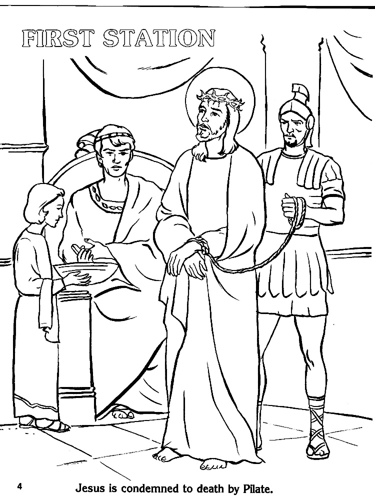 Stations Of The Cross Coloring Pages Custom Coloring Stations Design Decoration